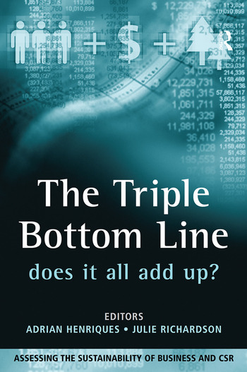 The Triple Bottom Line Does It All Add Up book cover