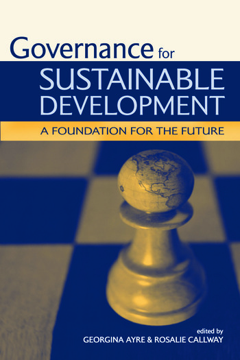 Governance for Sustainable Development A Foundation for the Future book cover