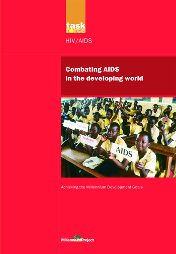 UN Millennium Development Library: Combating AIDS in the Developing World book cover