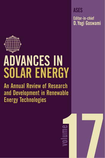 Advances in Solar Energy An Annual Review of Research and Development in Renewable Energy Technologies book cover