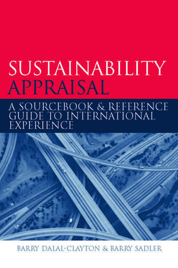 Sustainability Appraisal A Sourcebook and Reference Guide to International Experience book cover