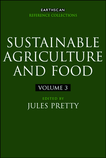 Sustainable Agriculture and Food book cover