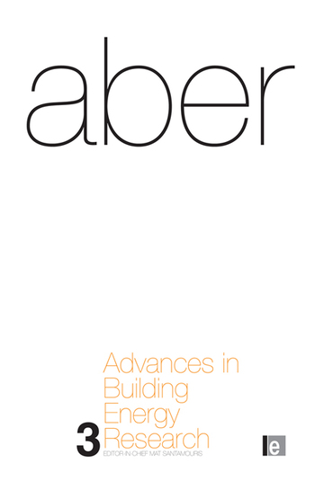 Advances in Building Energy Research Volume 3 book cover