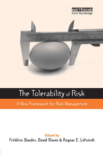 The Tolerability of Risk A New Framework for Risk Management book cover