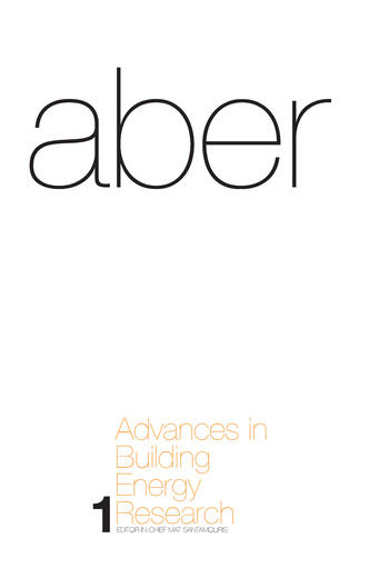 Advances in Building Energy Research Volume 1 book cover