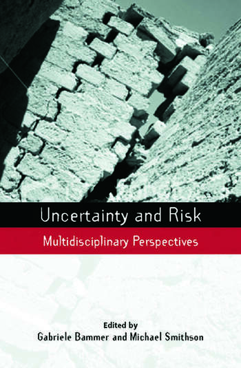 Uncertainty and Risk Multidisciplinary Perspectives book cover