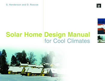 Solar Home Design Manual for Cool Climates book cover