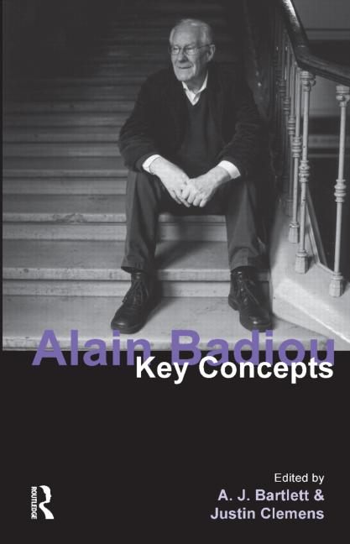 Alain Badiou Key Concepts book cover
