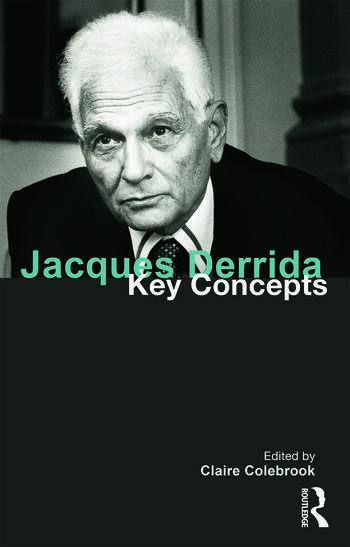 Jacques Derrida Key Concepts book cover