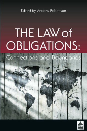 The Law of Obligations Connections and Boundaries book cover