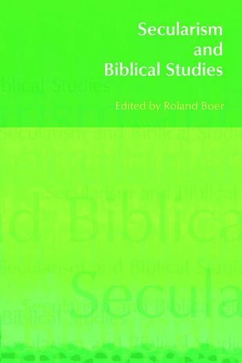 Secularism and Biblical Studies book cover