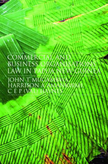 Commercial and Business Organizations Law in Papua New Guinea book cover