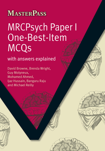 MRCPsych Paper I One-Best-Item MCQs With Answers Explained book cover