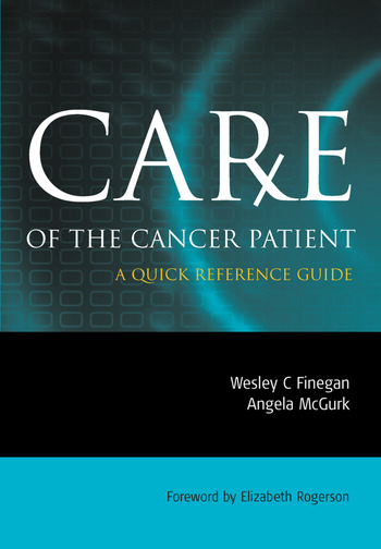 Care of the Cancer Patient A Quick Reference Guide book cover