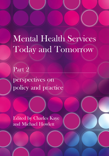 Mental Health Services Today and Tomorrow Pt. 2 book cover