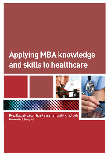 Applying MBA Knowledge and Skills to Healthcare book cover