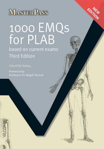 1000 EMQs for PLAB Based on Current Exams, Third Edition book cover