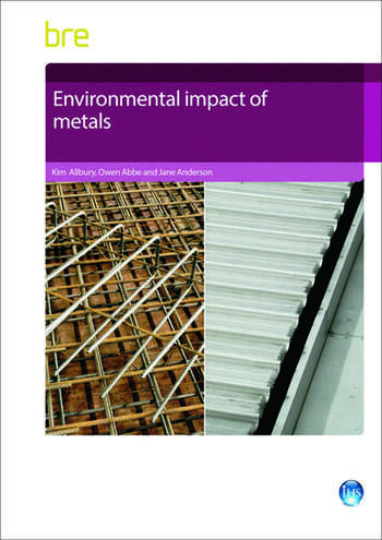 Environmental Impact of Metals book cover