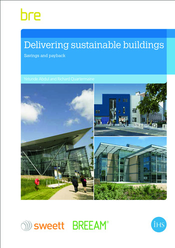 Delivering Sustainable Buildings Saving and Payback book cover