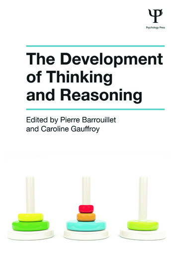 The Development of Thinking and Reasoning book cover