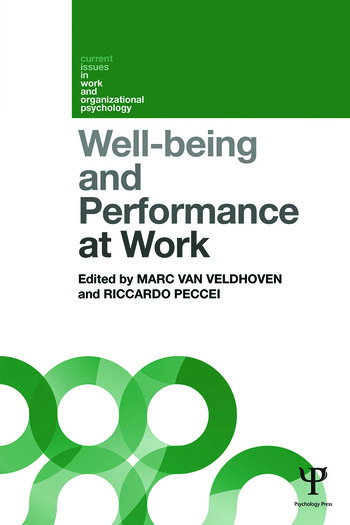 Well-being and Performance at Work The role of context book cover