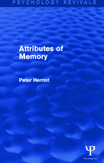 Attributes of Memory book cover
