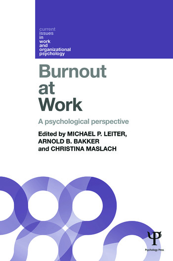 Burnout at Work A psychological perspective book cover