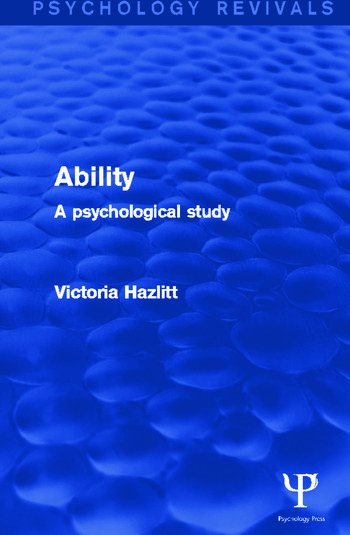 Ability A Psychological Study book cover