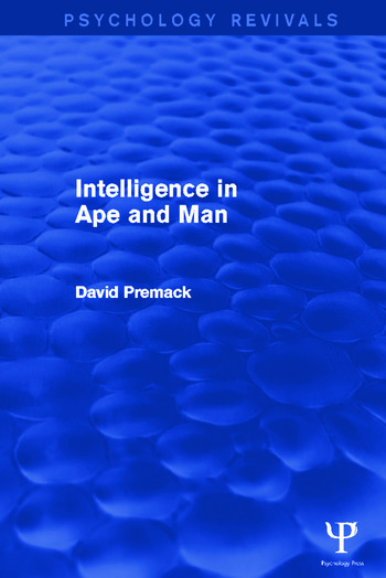 Intelligence in Ape and Man book cover