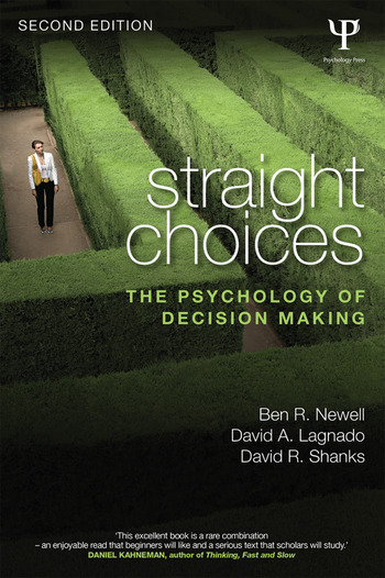 Straight Choices The Psychology of Decision Making book cover