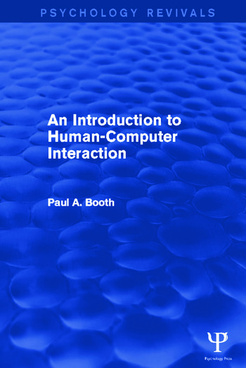 An Introduction to Human-Computer Interaction book cover