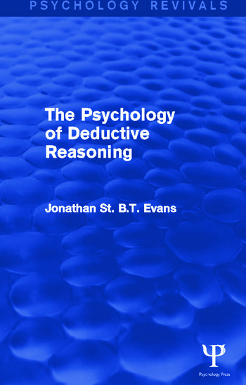 The Psychology of Deductive Reasoning book cover
