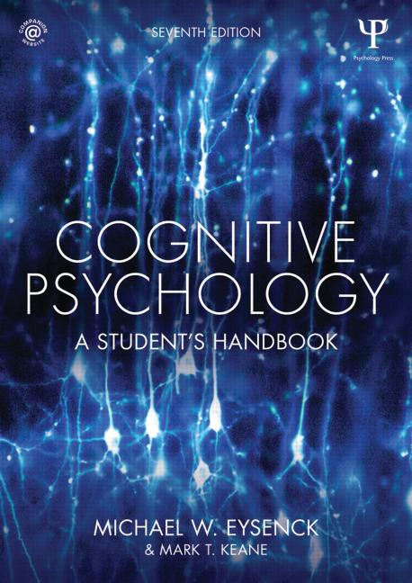 Cognitive Psychology A Student's Handbook book cover