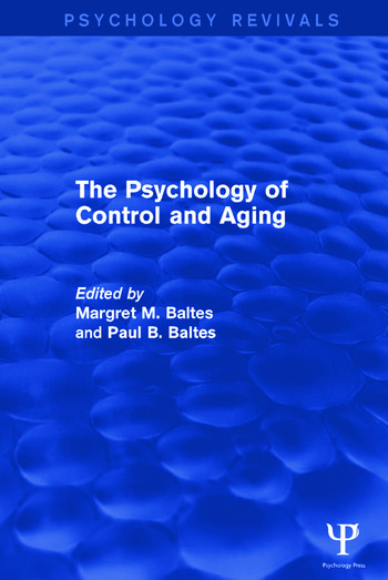 The Psychology of Control and Aging book cover