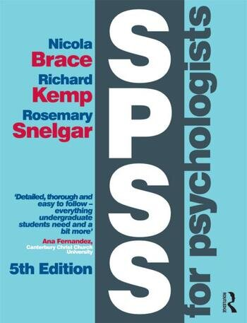 SPSS for Psychologists Fifth Edition book cover