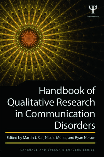 Handbook of Qualitative Research in Communication Disorders book cover
