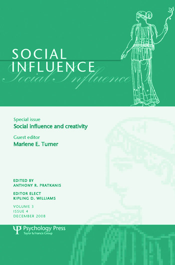Social Influence and Creativity A Special Issue of Social Influence book cover