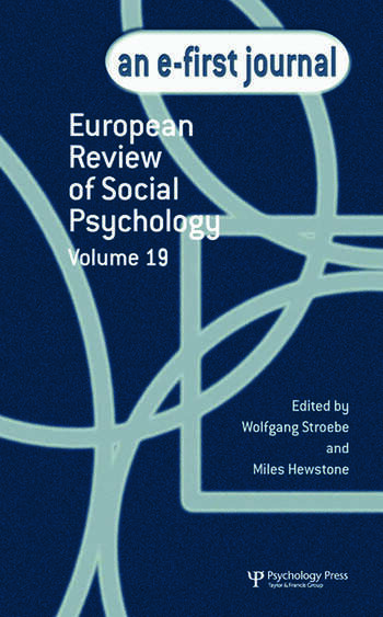 European Review of Social Psychology: Volume 19 A Special Issue of the European Review of Social Psychology book cover