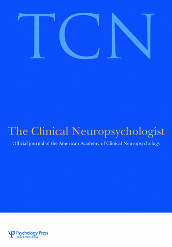 Advocacy in Neuropsychology A Special Issue of the Clinical Neuropsychologist book cover