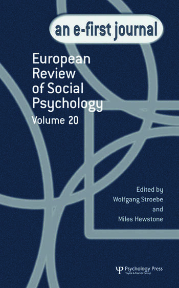 European Review of Social Psychology: Volume 20 A Special Issue of the European Review of Social Psychology book cover
