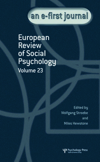 European Review of Social Psychology: Volume 23 book cover