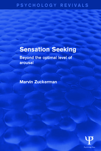 Sensation Seeking Beyond the Optimal Level of Arousal book cover