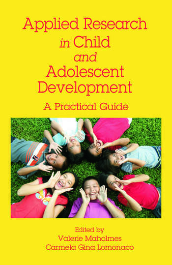 Applied Research in Child and Adolescent Development A Practical Guide book cover