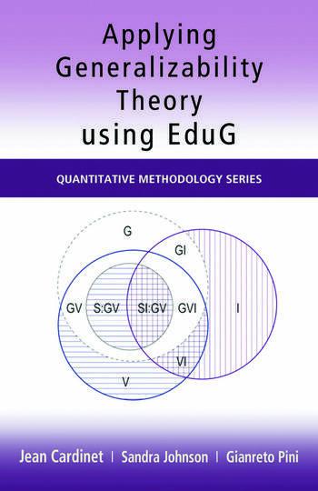 Applying Generalizability Theory using EduG book cover
