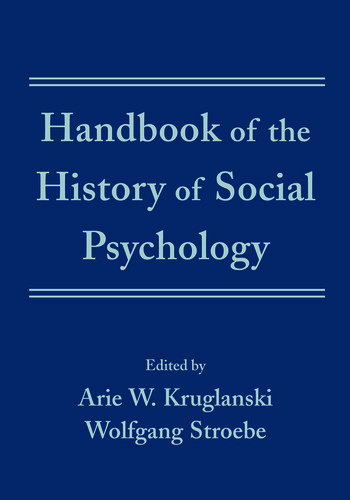 Handbook of the History of Social Psychology book cover