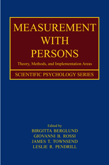 Measurement With Persons Theory, Methods, and Implementation Areas book cover