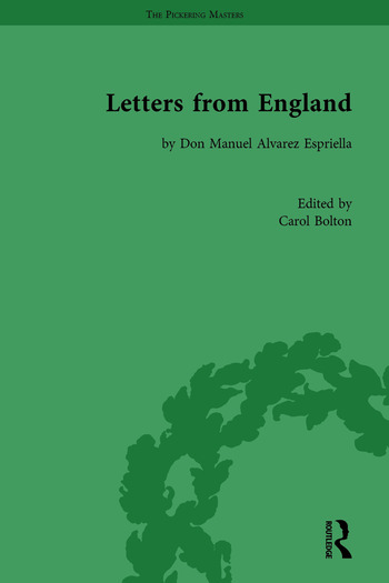 Letters from England by Don Manuel Alvarez Espriella book cover