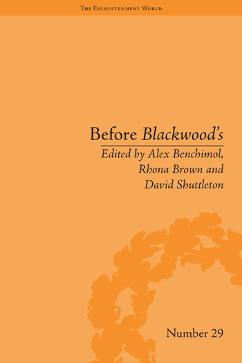 Before Blackwood's Scottish Journalism in the Age of Enlightenment book cover