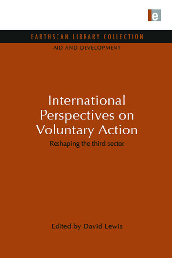 International Perspectives on Voluntary Action Reshaping the Third Sector book cover