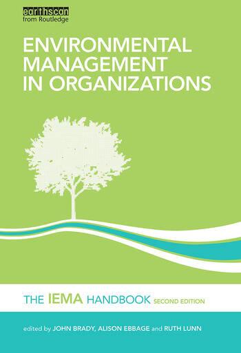 Environmental Management in Organizations The IEMA Handbook book cover